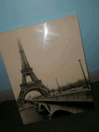 black and gray Eiffel Tower painting Muscle Shoals, 35661