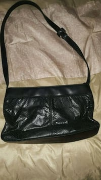 black leather 2-way bag Waterbury, 06706