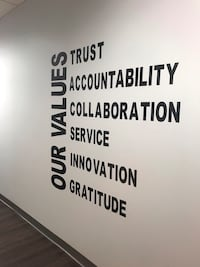 Interior design - Vinyl wall signage. You choice of words