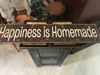 """Happiness is homemade"" sign  Middletown, 22645"