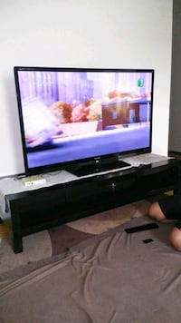 "Sharp Led smart Tv 55"" with the tv stand. Montréal, H3S 1P1"