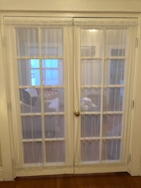 French door curtains with rods