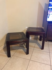 two black wooden side tables Plant City, 33563