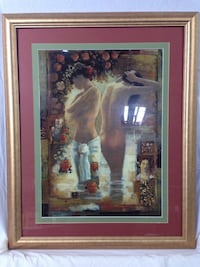 Contemporary Impressionist Style Giclee Print of Two Women Bathing, framed, artist unknown (1010284) South San Francisco