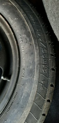New Goodyear Eagle LS tire mounted on black rim
