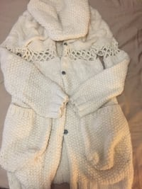 Moving sale- white button cardigan