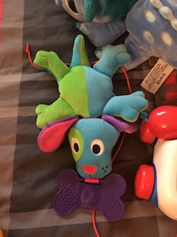 blue and green puppy pluch toy Granby, J2G