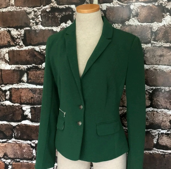 Esley Green Blazer Jacket Fitted Suit Coat Small 2f326ad8-7dff-4ec0-acd9-6d4beca359d9