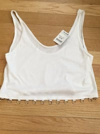 White crop top. Size small. Tags still on