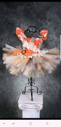white and orange floral tutu skirt El Paso, 79915