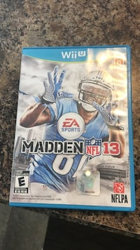 Nintendo wii madden nfl 13 game and case East Earl, 17519
