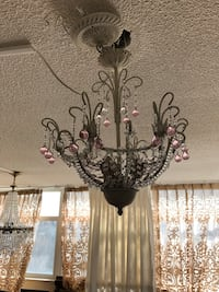 White pink beaded chandelier Toronto, M2R 3N1