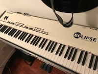 White and black electronic keyboard Los Angeles, 91324