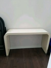 Cream colored side table (2 available) Calgary