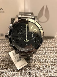 Nixon 48-20 Chrono polished Gunmetal Paramount, 90723