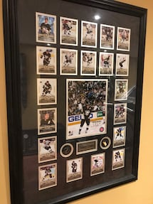 Sydney Crosby framed rookie cards
