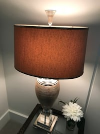 Rose gold, peach and silver table lamp Honolulu, 96815