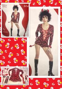 "CALIFORNIA FANTASY* brand ""HOT AS HELL!"" She devil hot pants women's costume size Large. NEW!  Dallas, 75248"
