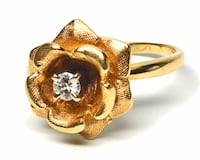 Flower-Styled Diamond Ring