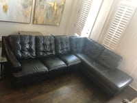 Large Leather Sectional Couch Houston, 77008