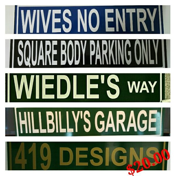 Personalized Street Signs >> Personalized Street Signs