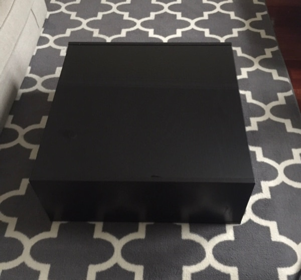 Black glass top coffee table 2
