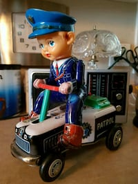 Vintage 1960s Old Tin Toy Made in Japan WORKS! Niagara Falls