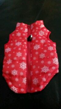 New Dog red vest with white snow flakes West Valley City, 84119