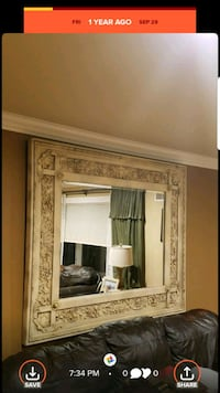 brown wooden framed wall mirror Rahway, 07065