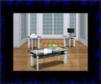 3pc glass coffee table Ashburn