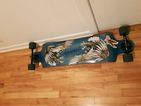 teal and brown floral longboard Blainville, J7C 1L2