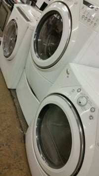 white front-load clothes washer and dryer set Lincolnia, 22312