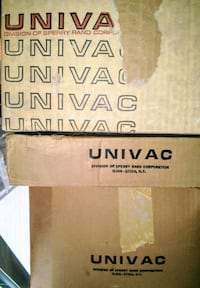 Antique Univac tube computer model 120, 409 parts in boxes Woodstock, 22664
