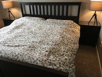 gray and white floral comforter