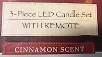 3 Piece LED Candle Set with Remote Control Cinnamon Scent Red NIB Hyattsville, 20785
