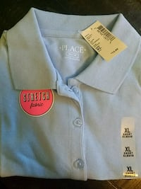 Children's Place Pique Polo, Light Blue, Youth XL Wall Township