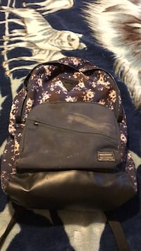 black and brown leather backpack Discovery Bay, 94505