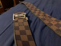 Men's 25 MM Louis Vuitton Belt Silver Spring, 20901