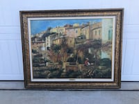 brown wooden framed painting of house Franklinton, 27525