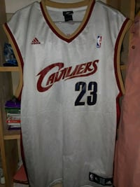 white and red Cleveland Cavaliers 23 jersey Brownsville, 78526