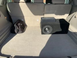 Car Subwoofer, Box, and Amplifier