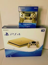 Novo PlayStation 4 1TB Gold Selado na Caixa