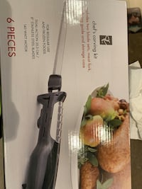 Chef carving knife set only 15$ !! LIKE NEW !! Calgary, T3H