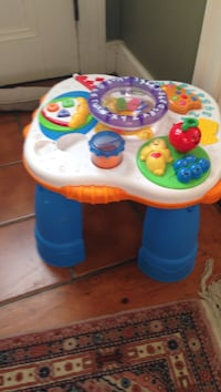 Toddler Play Table, plays music, spins byFisher Price, located in Beverly. Cash Beverly, 01915
