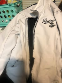 white and black Adidas zip-up jacket Rochester, 55902