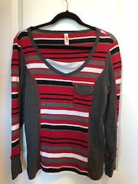 red, black, and white striped sweater Airdrie, T4B