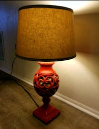 Mid Century Cork Belly Lamp w/ Burlap Fort Myers Beach, 33931