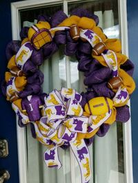 purple and yellow floral wreath Livingston, 70754