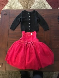 Baby girl red Christmas dress and sweater Denver, 80239
