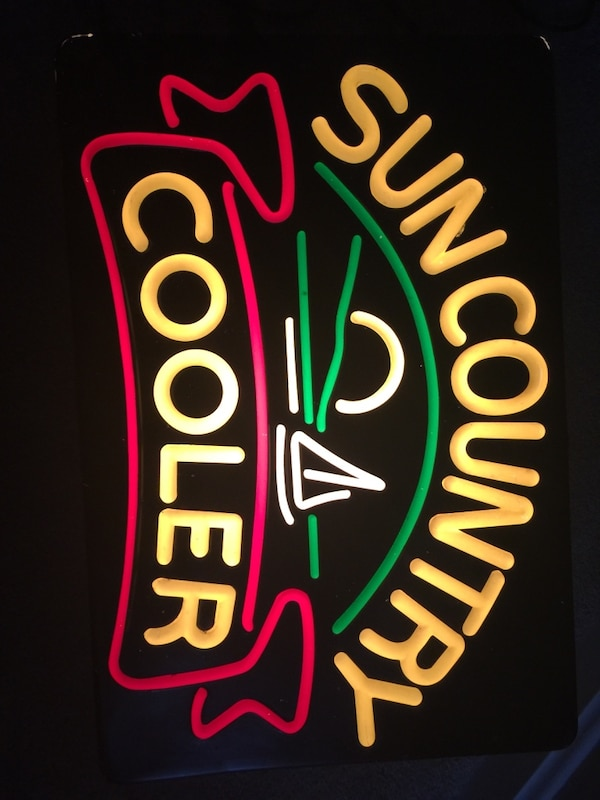 Sun Country Cooler sign not neon.